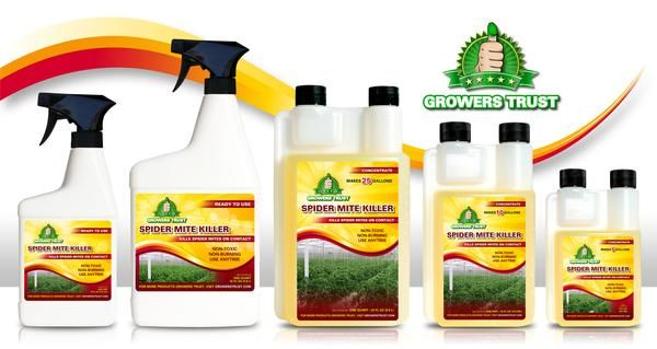 Growers Trust Spider Mite Killer is the ultimate, permanent solution to spider mite infestations. Killing spider mites on contact, Spider Mite Killer is the saf