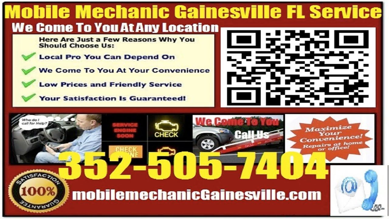 The best Mobile Mechanic Gainesville FL auto car repair