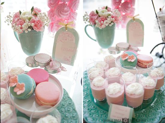 Vintage Pastel Baby shower dessert ideas