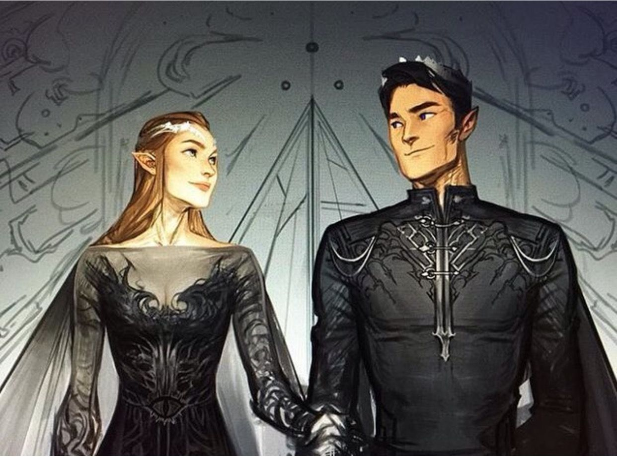 Feyre And Rhys A Court Of Mist And Fury A Court Of Wings And