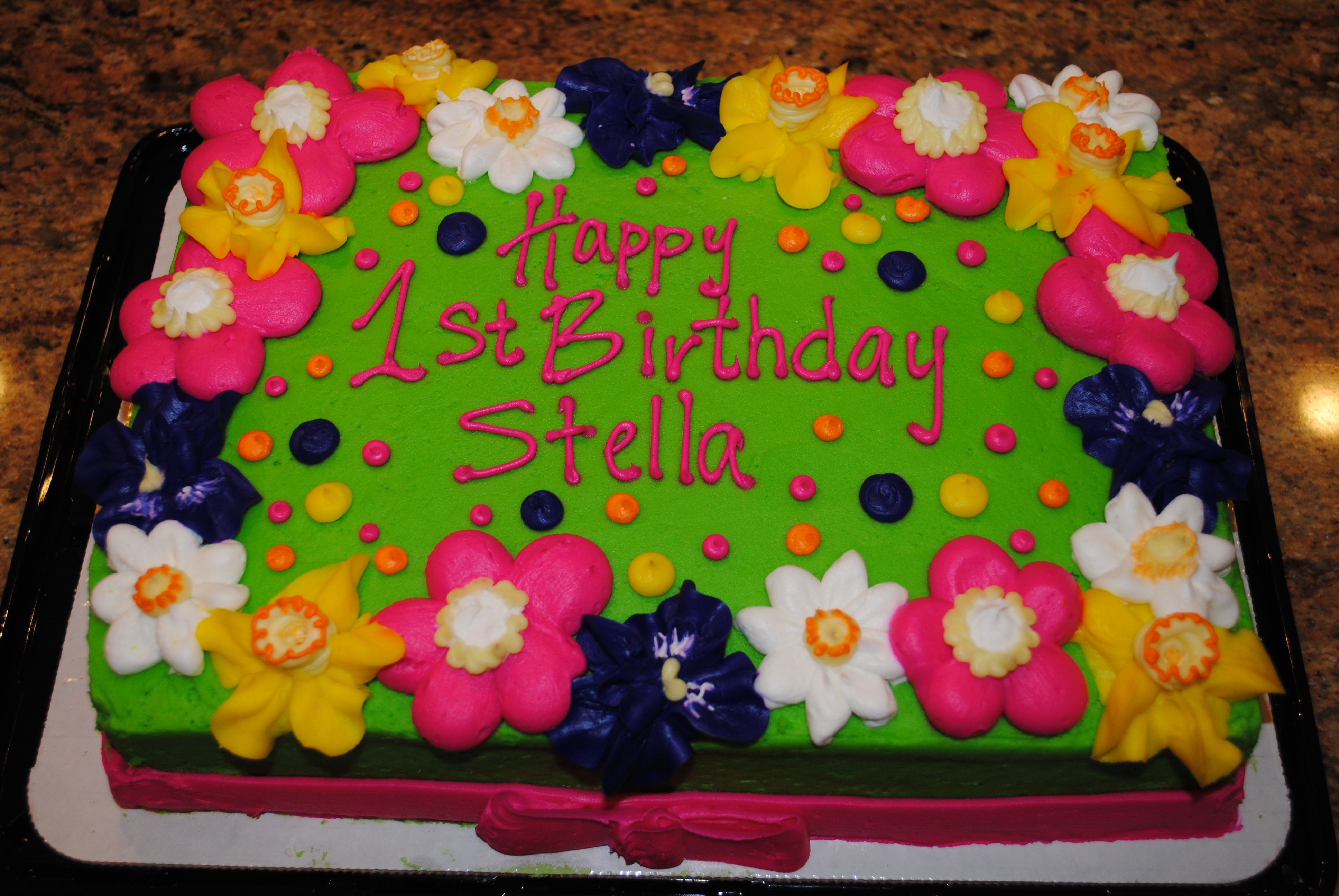 Birthday Cake Images Cute : Cute Birthday cake for girl Cakes Pinterest