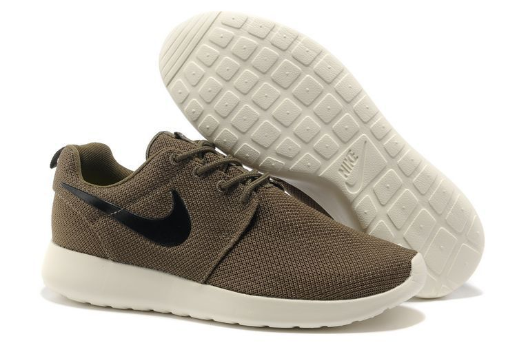 cheap for discount e707a 8d96a Nike Roshe Run Homme Sombre Vert Blanc Mesh