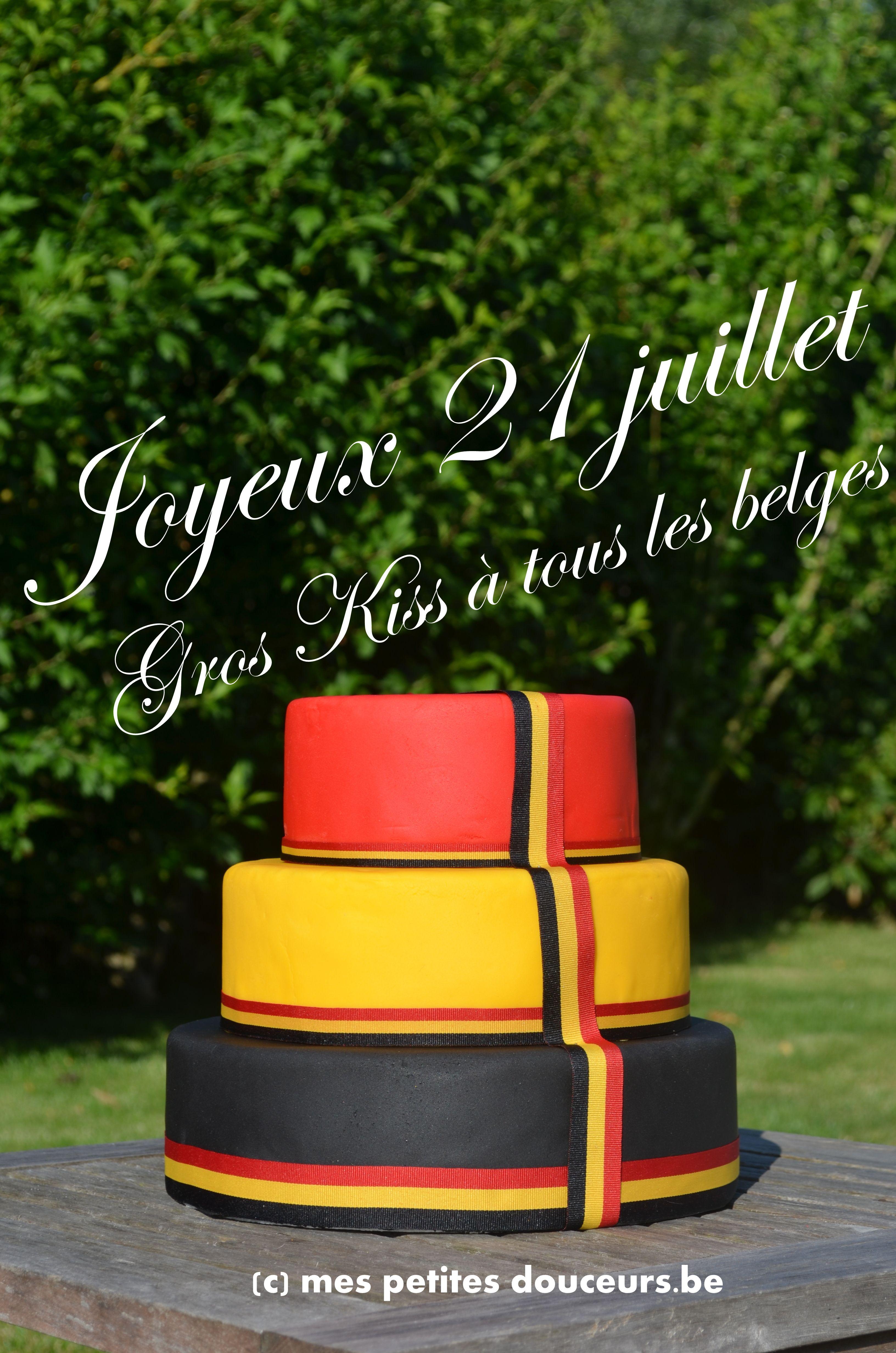 Belgian Flag Cake - 21th July Black, red, yellow