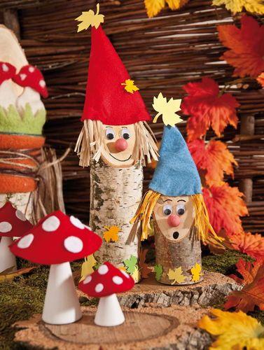 Herbstliches basteln mit holz und naturmaterialien for Herbstdeko basteln naturmaterialien