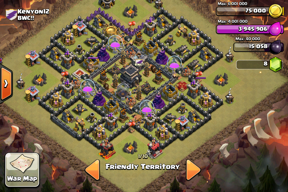 Undefeated Best Th9 War Base 9