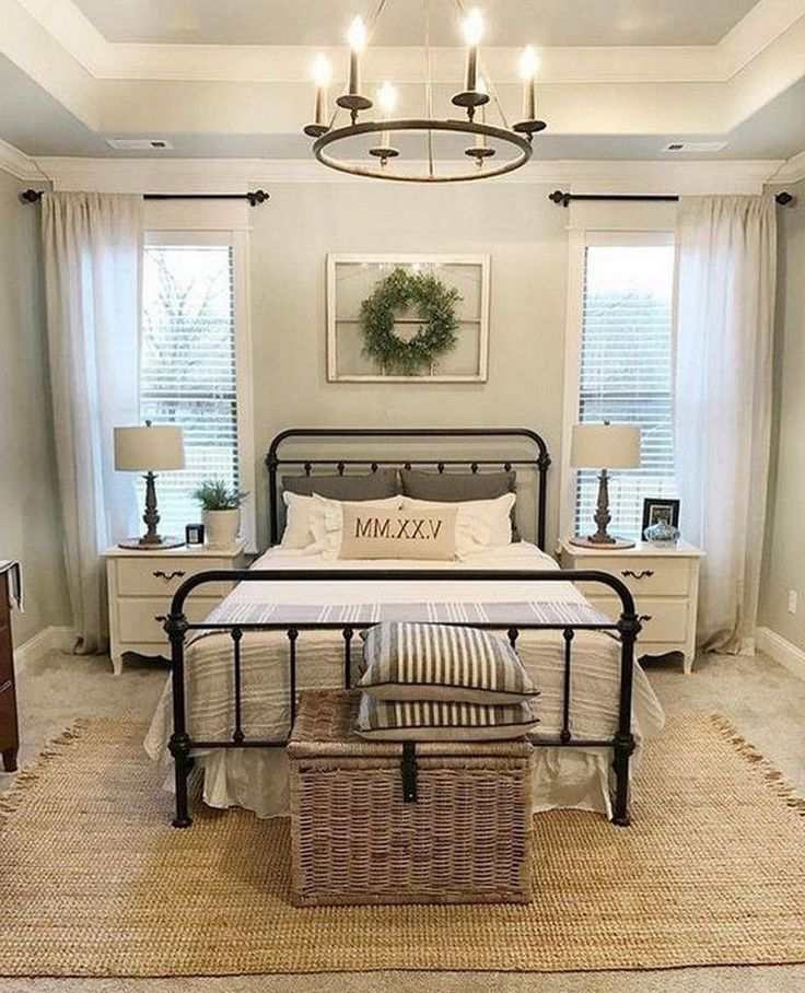 25+ Cool Black Wrought Iron Bed Frame Designs Bedroom