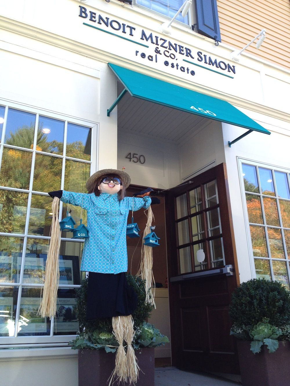 Our Weston office is ready for the WCCA (Weston Community Children's Association) festivities all month long & Trick or Treating on the Town Green October 25th. Happy October! #benoitmiznersimon #fallinweston