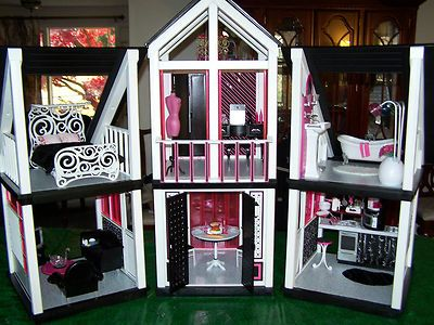 OOAK Diva Barbie Dream House Furniture Sweet 1600 Monster High Mansion Très  Chic