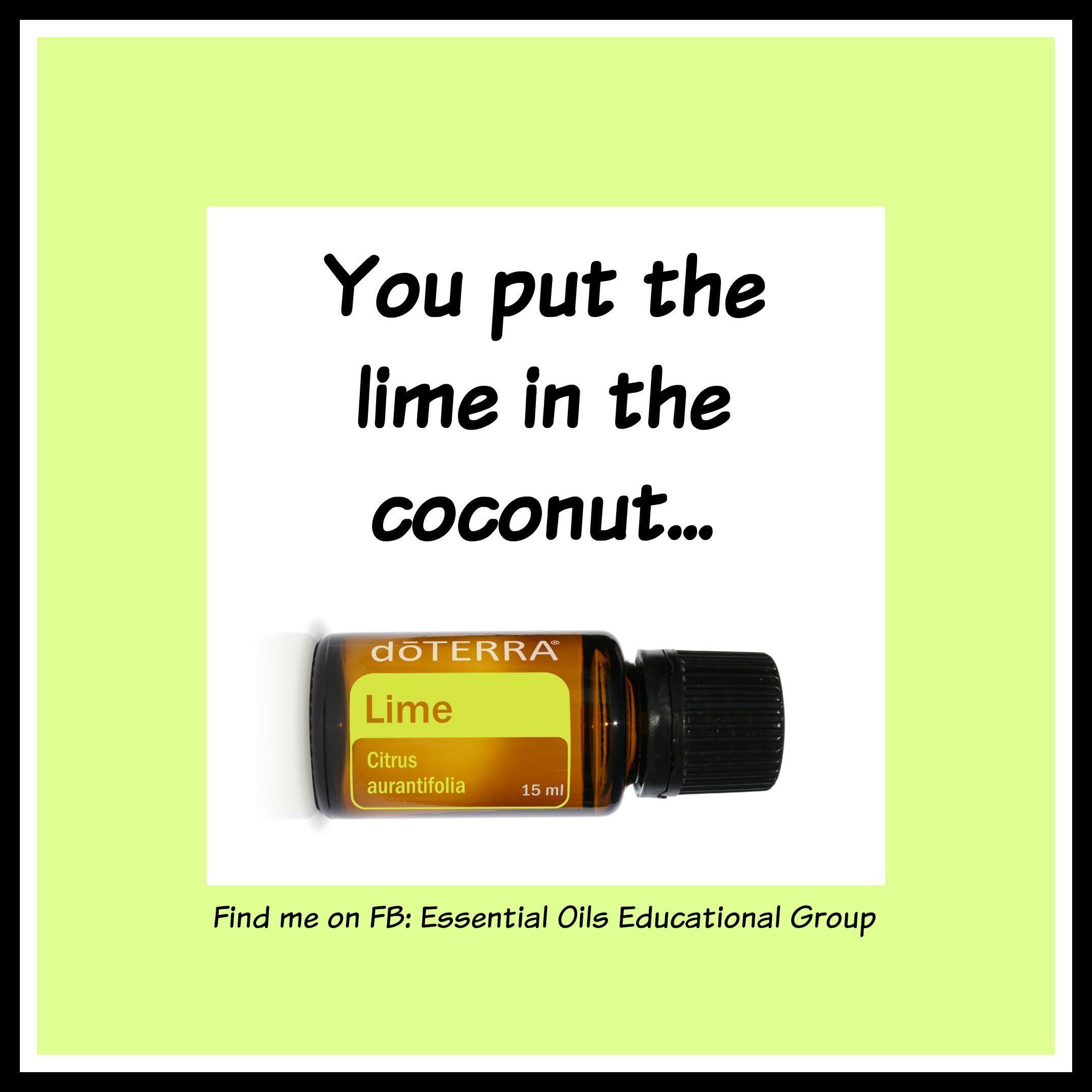 Try adding a few drops of Lime essential oil to virgin