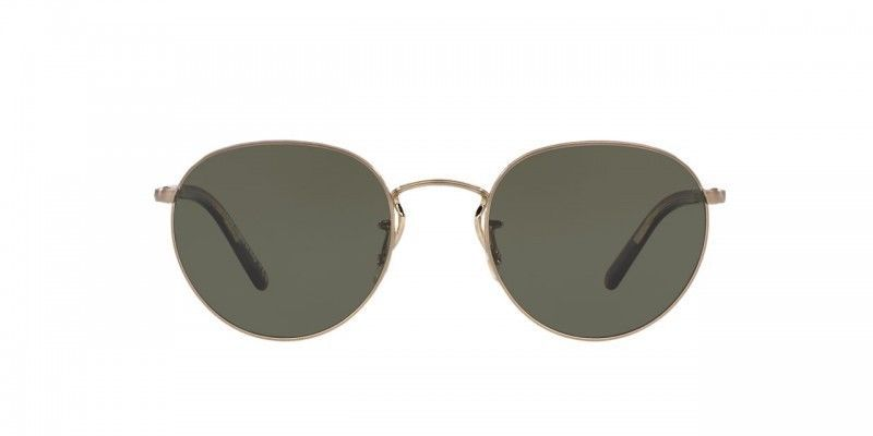 66dc59749b7cc  525 New Unisex OLIVER PEOPLES Hassett Brushed Gold + G-15 Polarized  Sunglasses  OliverPeoples  Round
