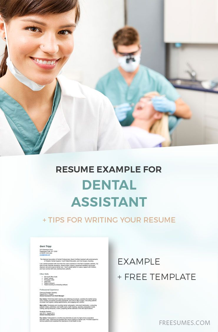 Dental assistant resume example resume examples basic