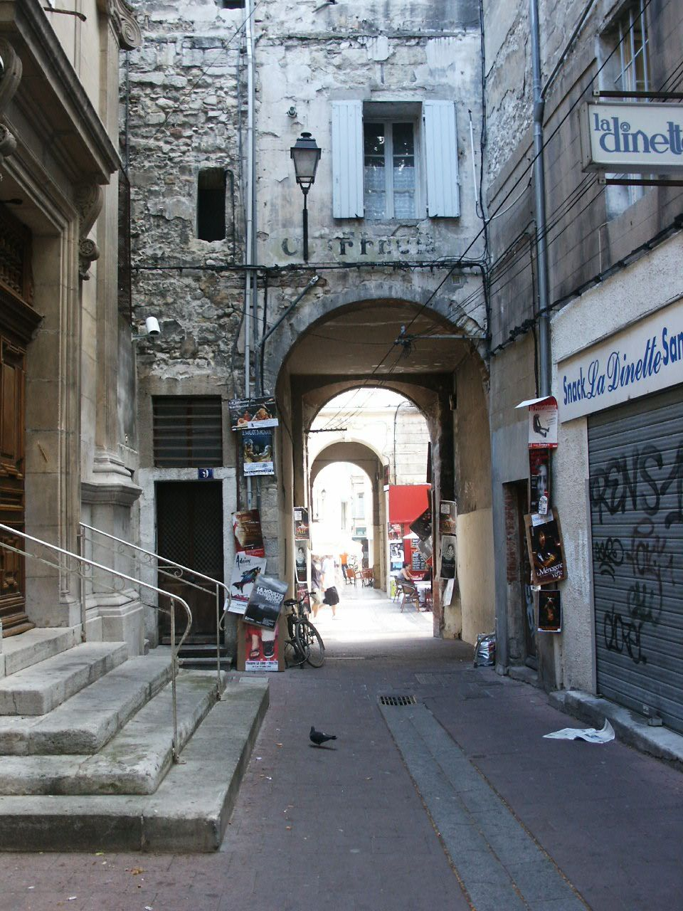 Entrance to the synagogue (built in 1221) and gateway to the old Ghetto in Avignon, France  ~