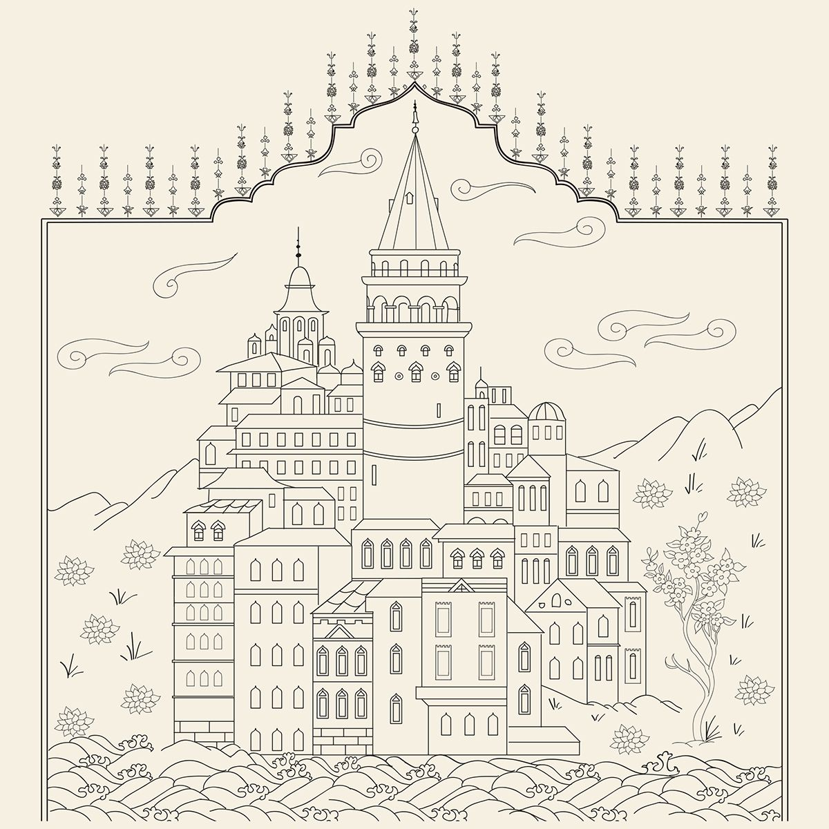 Ottoman Miniature Design Adult Coloring Book on Behance