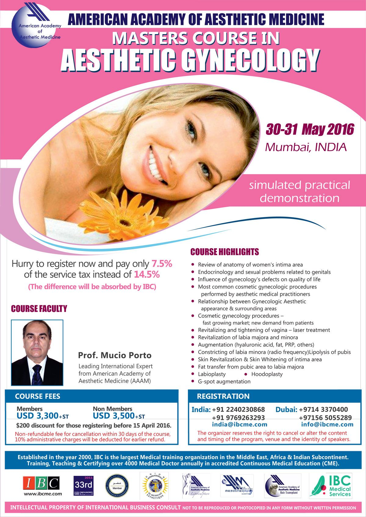 Aesthetic Gynecology Masters Course at Mumbai India by AAAM | ESTEP