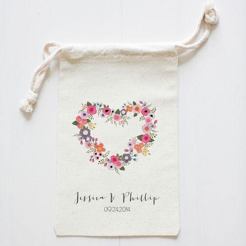 Blushing Hearts Wedding Favor Bags