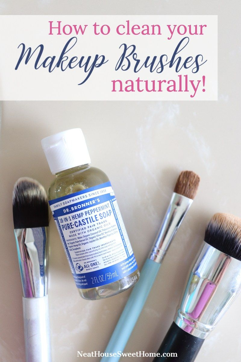 How to Clean Makeup Brushes Naturally in 2020 How to