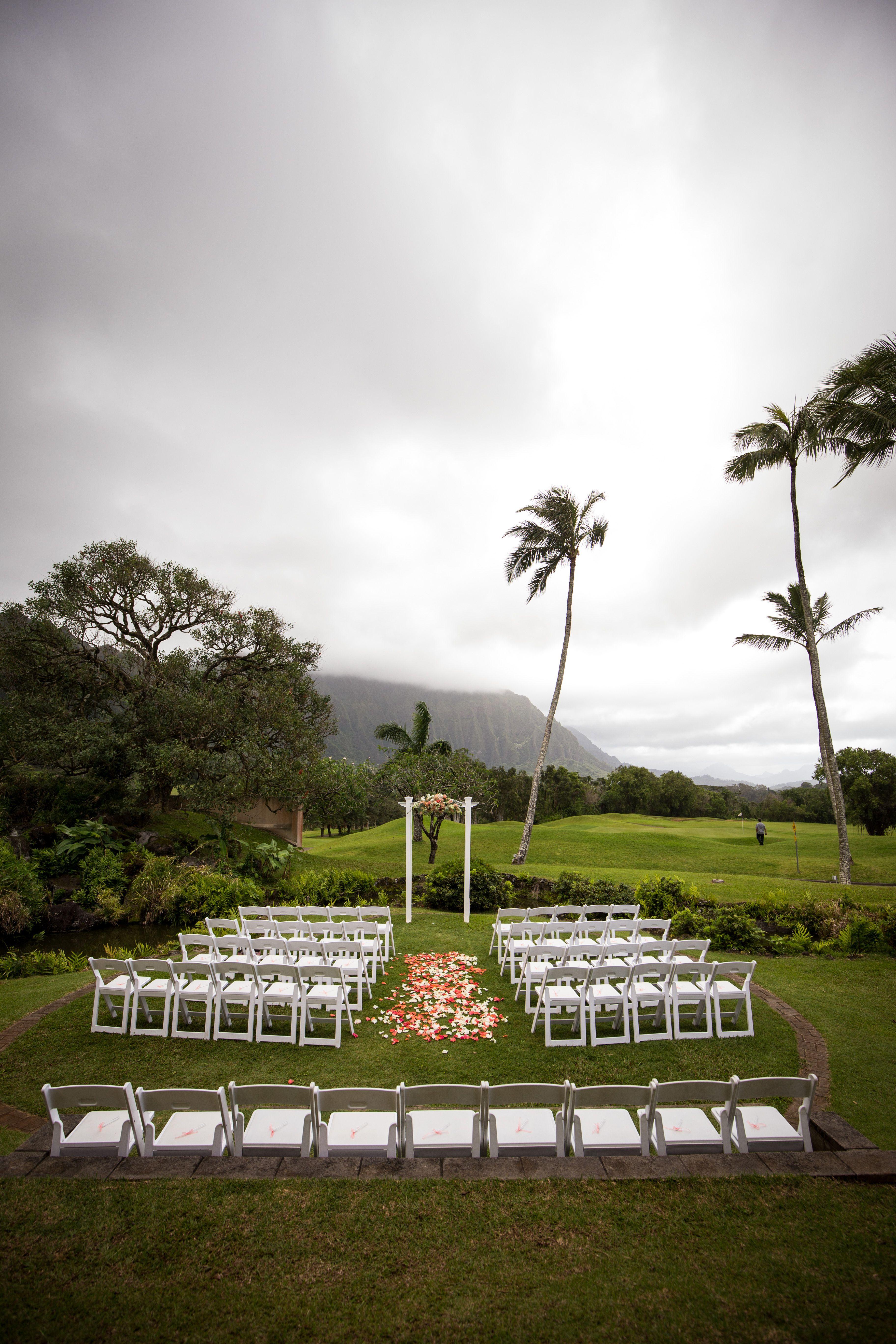 Stunning Outdoor Wedding Venue On Oahu Hawaii At Koolau