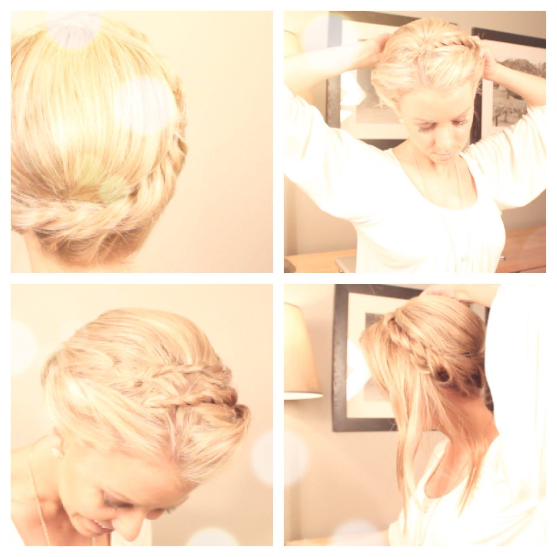 Easy twisted updo so going to do this for uni when i want it all