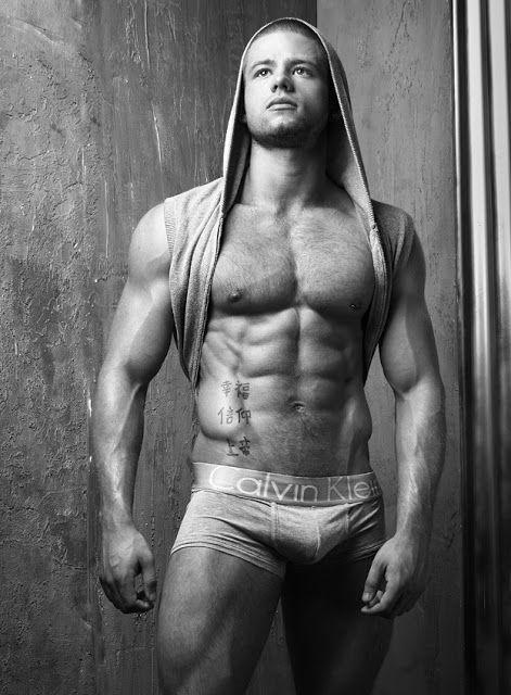 Big Bulge Model Kieran Congdon - #Bulge #Briefs #Pecs #Hairy #Stud #Muscle #Shaved