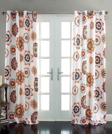 Another Great Find On Zulily White Tangerine Ashbury Curtain