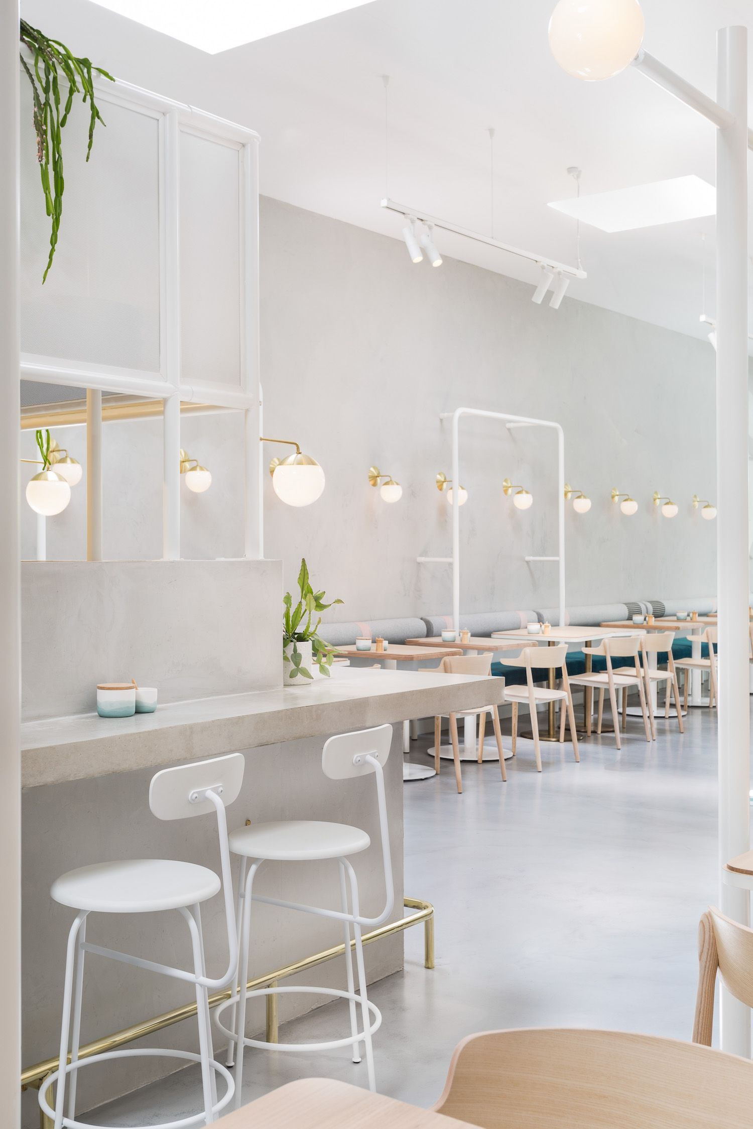 melbournes northern suburbs get a chic new dining addition thanks to the husband and wife team cafe interiorsrestaurant - Concrete Cafe Interior