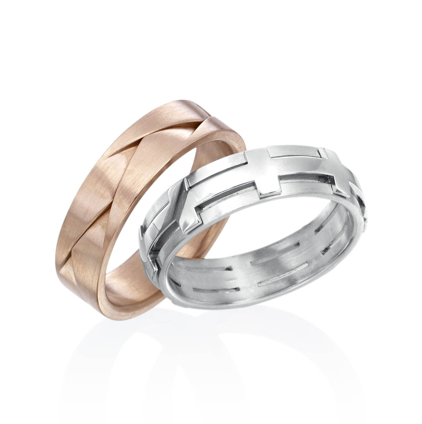 gold bands band in mens and white rose wedding