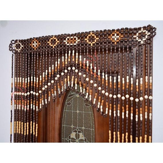 Beaded Door Curtain Decor For Living Room Wood Blinds Wall Decor