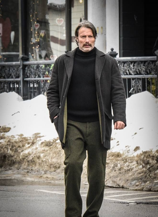 Polar mads mikkelsen wool coat in 2020 Distressed