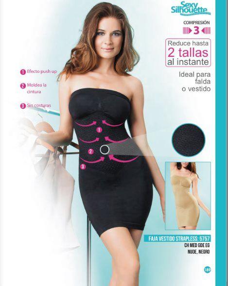 6b22719a4 Faja vestido strapless para mujer. Lenceria fina de Vicky Form