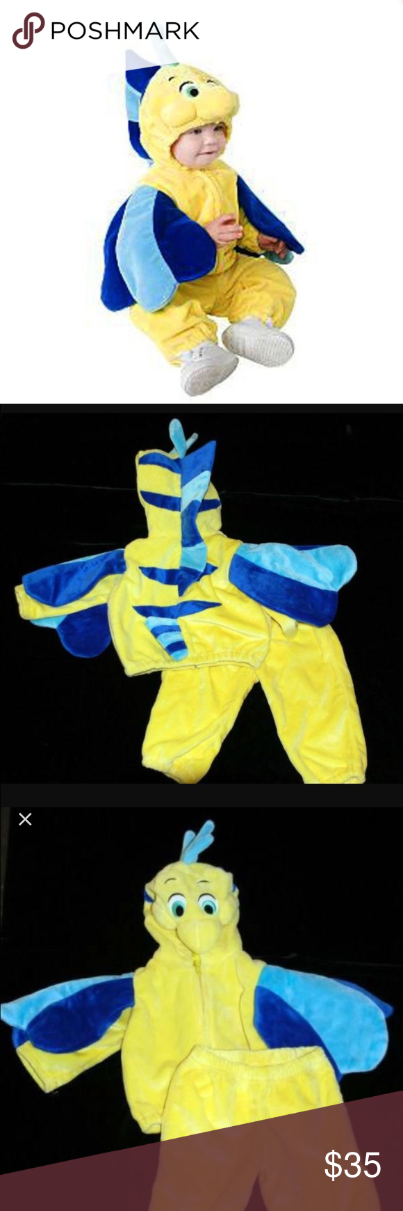 Authentic Disney Store flounder costume 6-12 M Adorable the little mermaid infant flounder costume from Disney store in excellent condition.  sc 1 st  Pinterest & Authentic Disney Store flounder costume 6-12 M Adorable the little ...