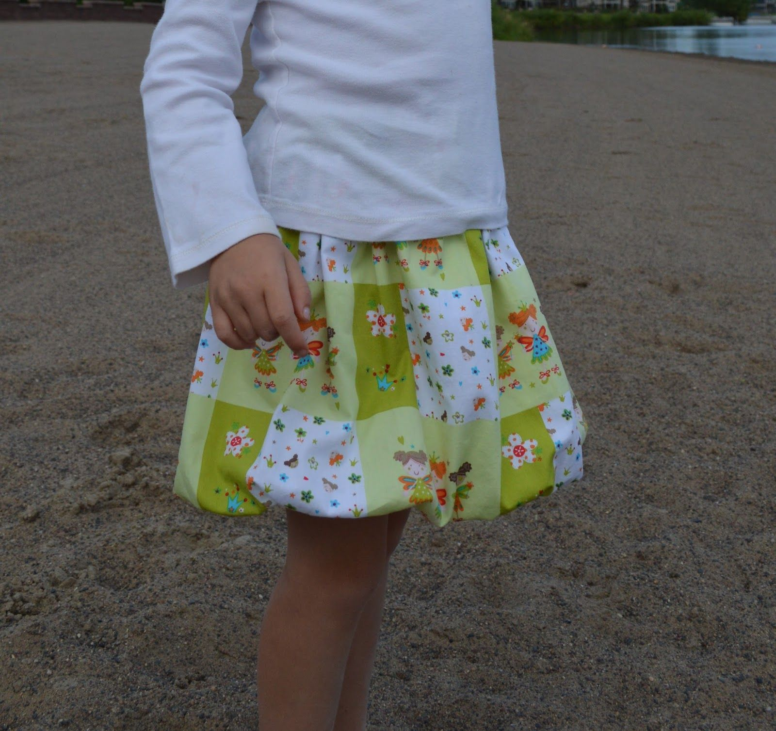 No Gathers Bubble Skirt - love this!  Would be fun to make in a knit.