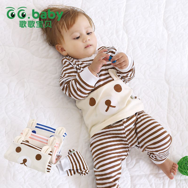 acd0e764b0aae Best cheap 2pcs/set Cotton Spring Autumn Baby Boy Girl Clothing Sets ...