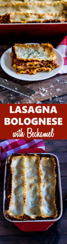 Lasagna Bolognese With Bechamel Sauce Recipe Lasagna