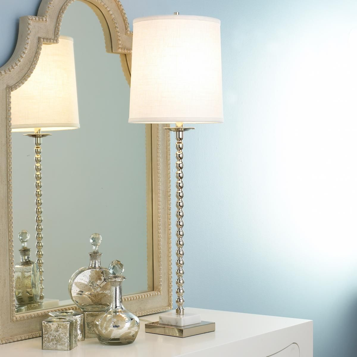 Chrome With Marble Base Table Lamp Tall Table Lamps Table Lamp Lamp