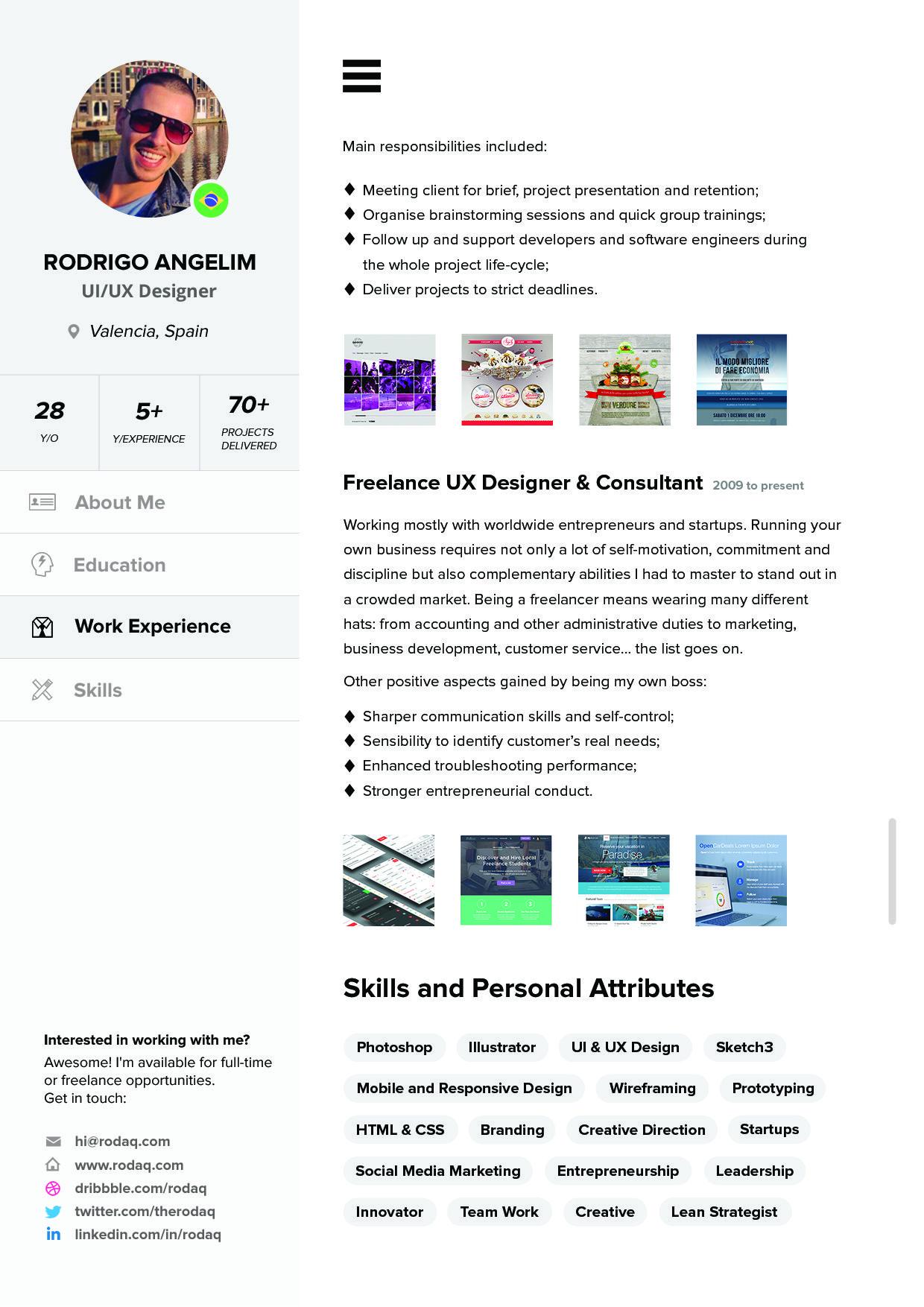 Three page curriculum vitae template set | Creative resume templates ...