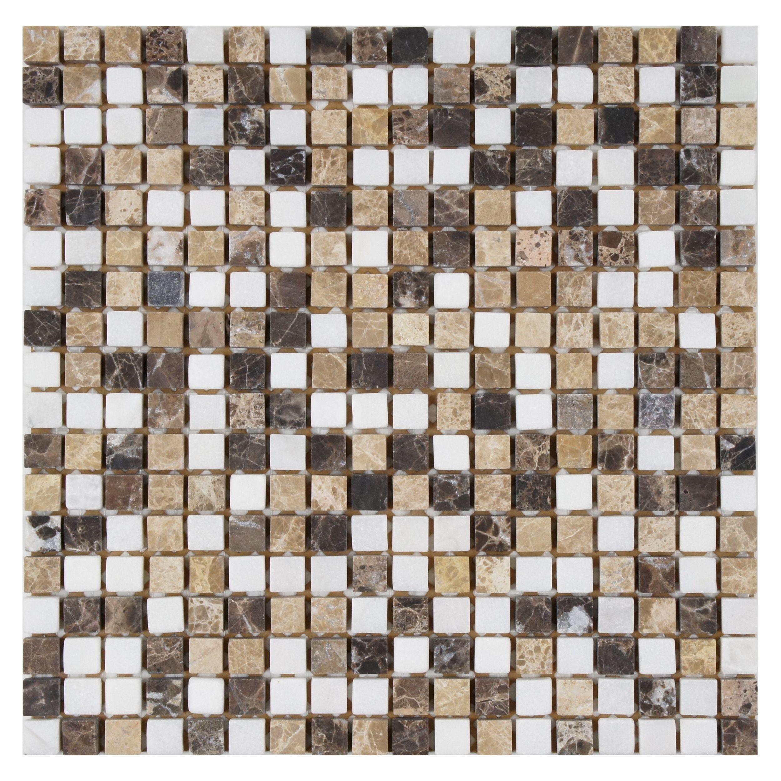 SomerTile 12x12-inch Boccaccio Mini Sand Mosaic Wall Tile