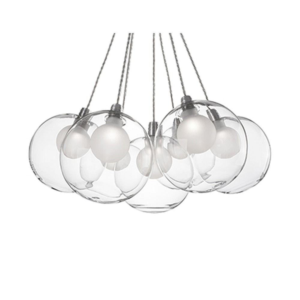 glass lighting pendants. Cluster Pendant Light Chrome With Clear Glass 7-Light Kuzco Lighting Pendants L