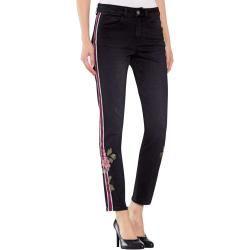 Photo of Alba Moda, Jeans mit dekorativen Seitenstreifen, schwarz Alba Moda