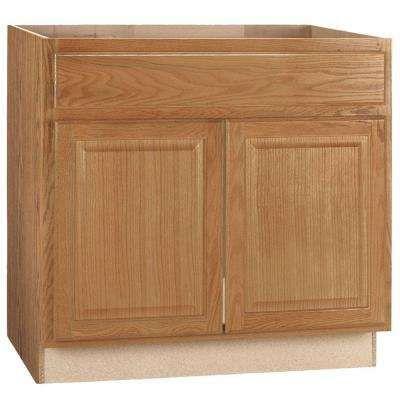 36x34 5x24 In Hampton Sink Base Cabinet In Medium Oak Kitchen Cabinets Home Depot Kitchen Base Cabinets Home Depot Kitchen