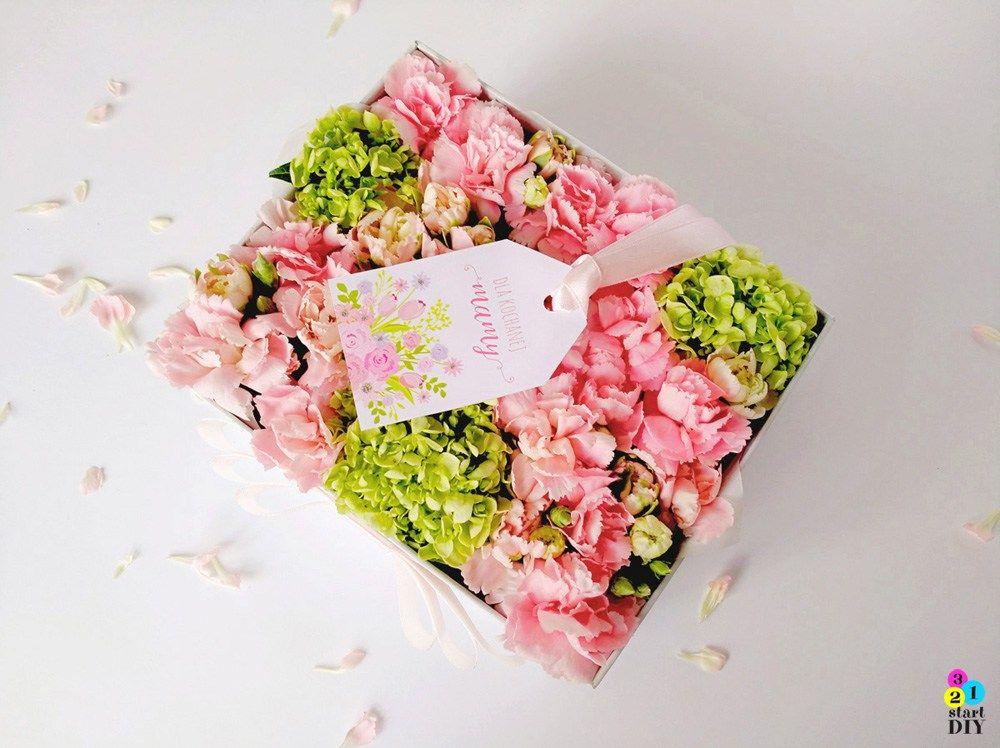 Flower Box Diy Czyli Jak Zrobic Kwiaty W Pudelku 321startdiy Diy Takeout Container Container