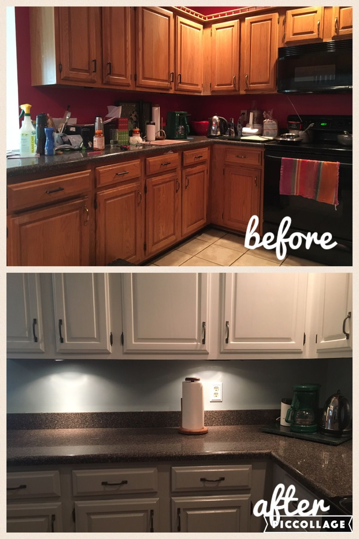 DIY cabinet makeover cost $150. Feels like a new kitchen ...