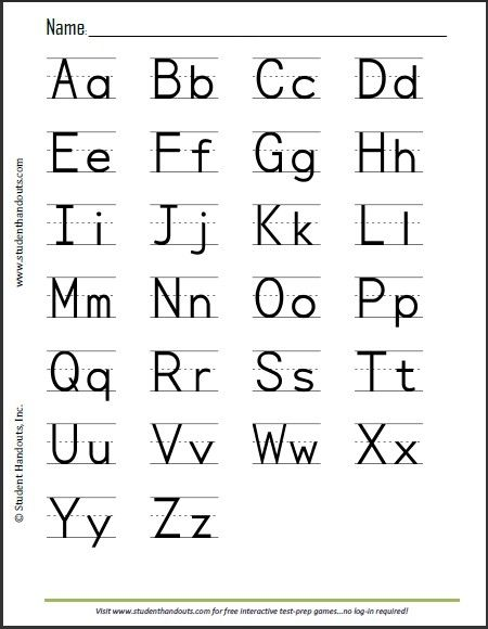 image relating to Printable Abc Letters named Print Alphabet Sheet Print outs Alphabet worksheets