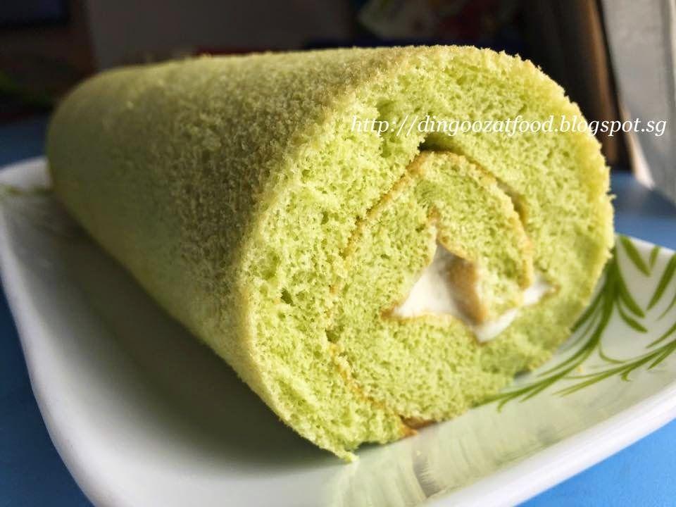Miki's Food Archives : Pandan Coconut Swiss Roll 斑斓椰香蛋糕卷