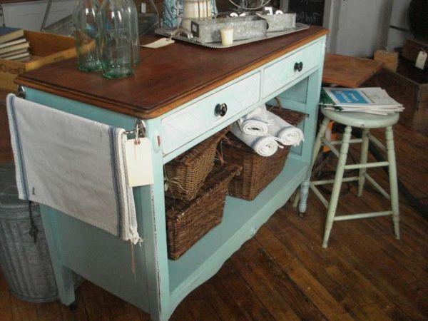 Sommerküche Fahrbar : Die alte kommode als küchenblock verwenden diy projekt für sie