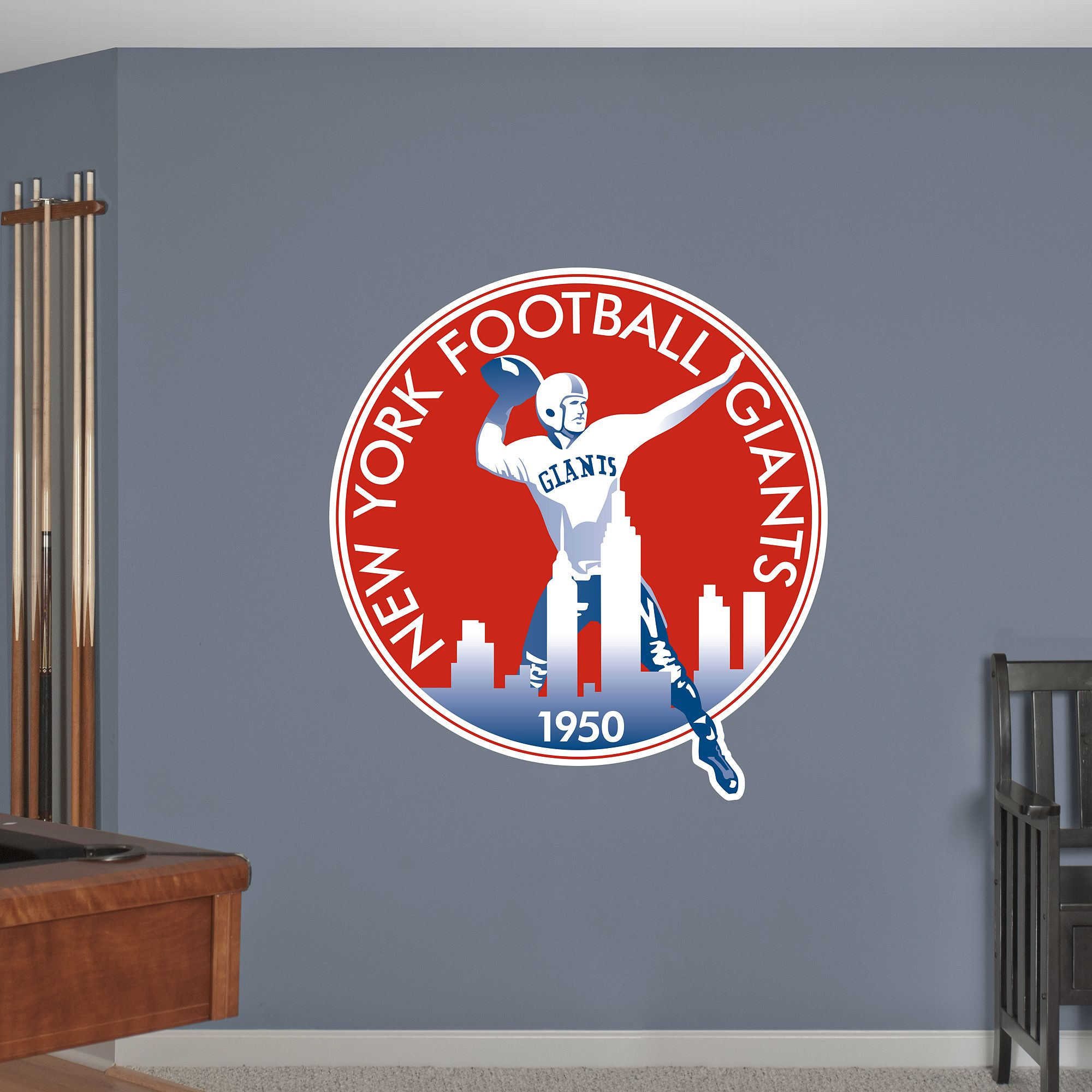 New York Giants Classic Logo New York Giants Nfl Wall Decals San Francisco 49ers Logo Fathead