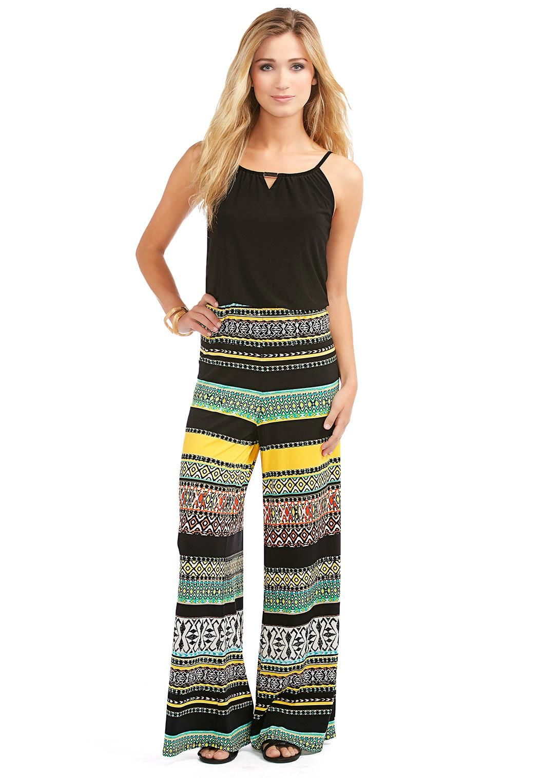 Aztec Print Jumpsuit Casual Cato Fashions CatoSummerStyle