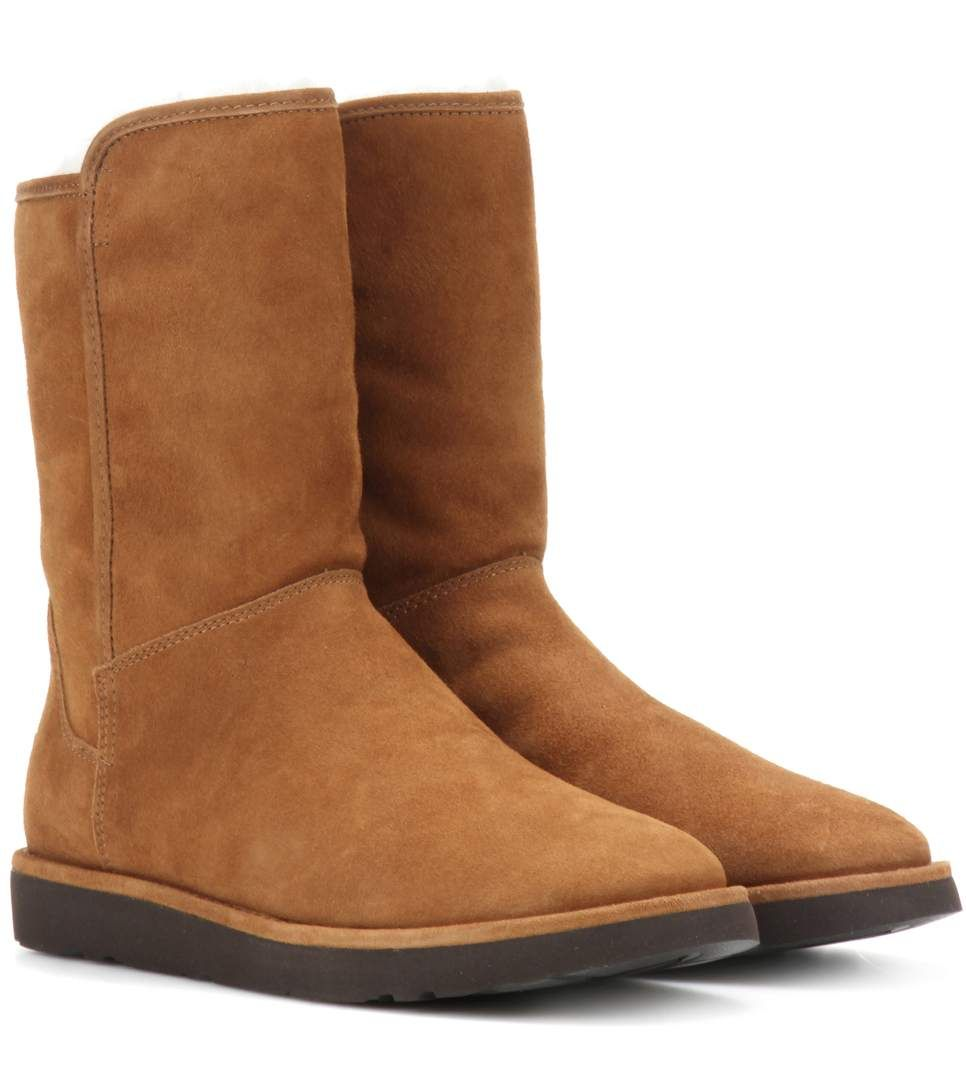 23ea319b8ab Abree Short II tan fur-lined suede ankle boots | BOOTYLICIOUS ...
