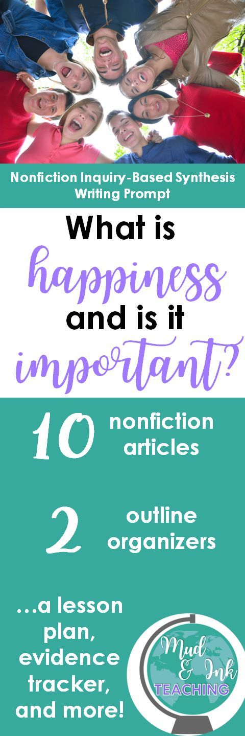 What Is Happiness And Is It Important A Inquirybased Synthesis  Every Unit We Teach On Fiction Needs A Counterpart In Nonfiction As Well As  A Writing Component Check Out This Synthesis Essay Prompt That Comes With  A