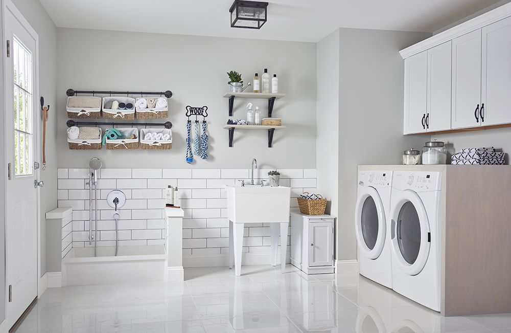 The Utility Sink Or Laundry Sink Gets You Organized Modern