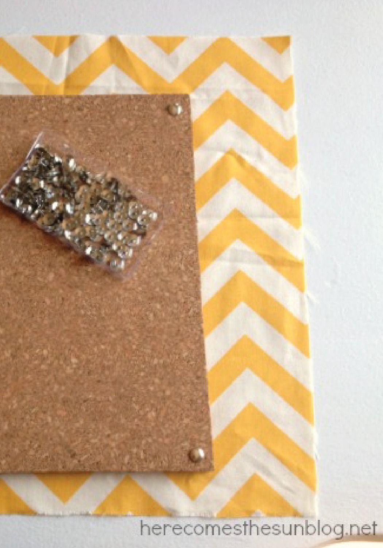 Create a custom DIY bulletin board with your favorite fabric!